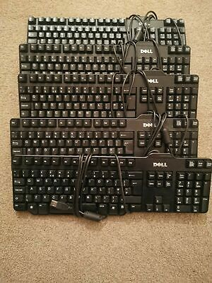 CHEAP DELL HP MICROSOFT KEYBOARD ,USB WIRED QWERTY UK LAYOUT, Fast Delivery