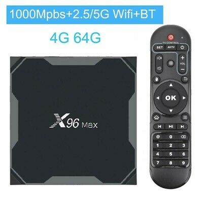 Tv Box Smart Tv X96 Max Plus 4Gb + 64Gb Wifi 5G Ultra Hd 8K Android 9.0