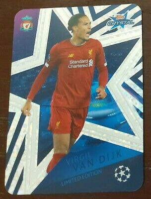 Topps Crystal Champions League 2019/20 Virgil Van Dijk Limited Edition card