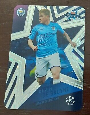 Topps Crystal Champions League 2019/20 Kevin De Bruyne Limited Edition card