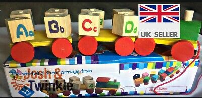 Learning Wooden Play Alphabet & Numbers Train