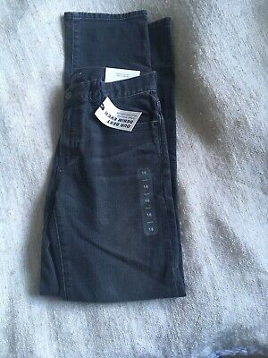 GAP Boys Black Denim Straight Jeans Age 16 Years 100% Cotton