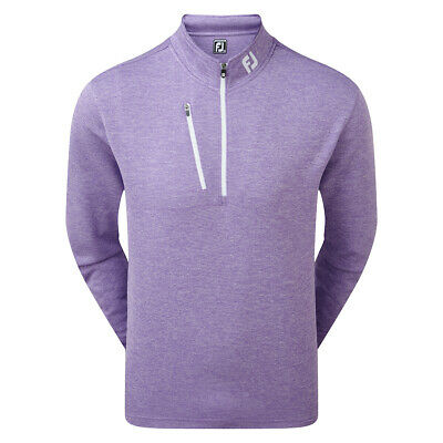 Footjoy Heather Pinstripe Chill-Out Pullover Herren lila