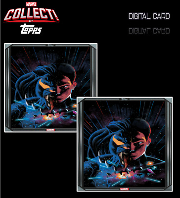2x 2020 COMIC BOOK DAY SILVER BLACK PANTHER # 21 Topps Marvel Collect
