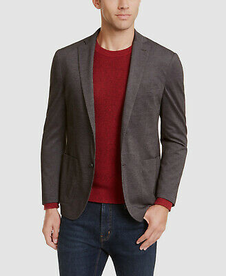 $450 Michael Kors 44R Men's Gray Slim Fit Solid Blazer Sport Coat Jacket