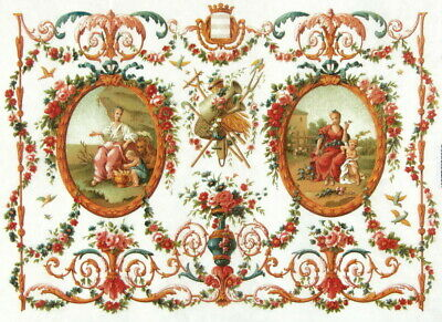 Rice Paper for Decoupage Scrapbooking Sheet Craft Rococo style tapestry