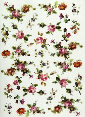 A/4 Rice Paper for Decoupage Scrapbooking Sheet Craft Small Flowers