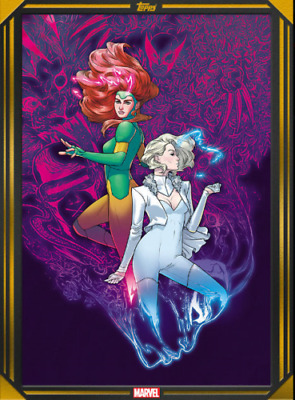 COMIC BOOK DAY GOLD JEAN GREY & EMMA FROST #1 Topps Marvel Collect Digital Card