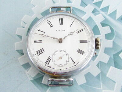 P. MOSER Enamel Dial Vintage Swiss Mechanical Art Deco Watch for Russian Empire