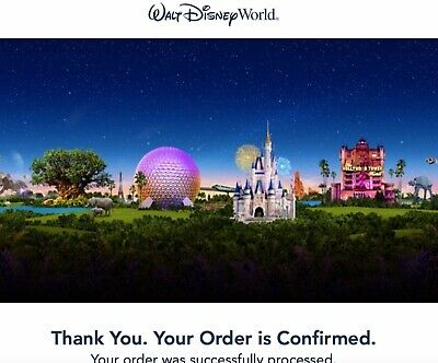 Qty. 2 - WALT DISNEY WORLD 1 DAY 1 THEME PARK TICKETS