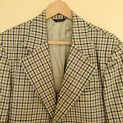 vintage Marshall Ray Plaid Leisure Suit Sport Coat Jacket Blazer RETRO Mens 40