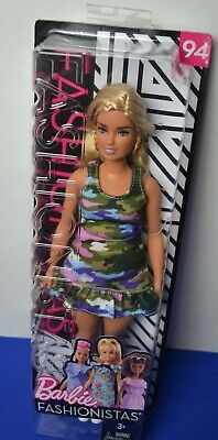 2018 BARBIE CURVY FASHIONISTAS #94 URBAN CAMO DOLL DRESS ONLY
