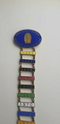 Bugatti  Owners  Club  Prescott Hill Climb Badge. Ceramic Collectors