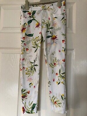 Girls Zara Summer Trousers Tropical Floral Print Age 8