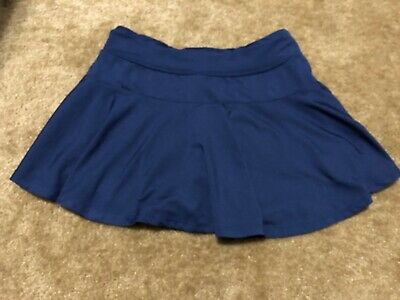 Old Navy Girls active wear SKORT size L Large 10/12 NAVY BLUE Go Dry EEUC