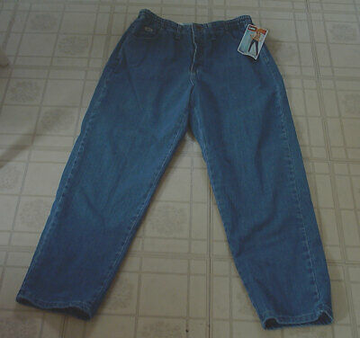Womens Relaxed Lee Side Elastic At The Waist Tapered Leg Jeans - Size 10 Petite