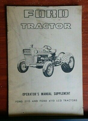 Ford Tractor: 2110 2110 LCG -  Operator's Manual Supplement