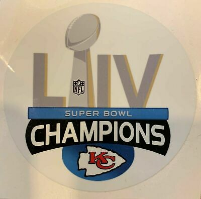 Super Bowl 54 Liv Champions Decal Kansas City Chiefs 4 Sizes Patch Design Nfl