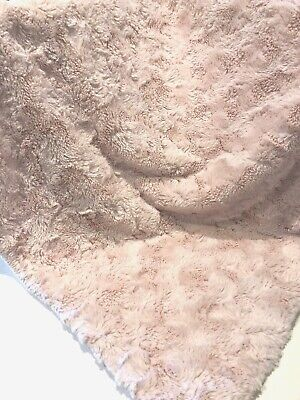 Kyle & Deena Baby Blanket Pink Plush Textured Swirls Soft Luxury Security Replac