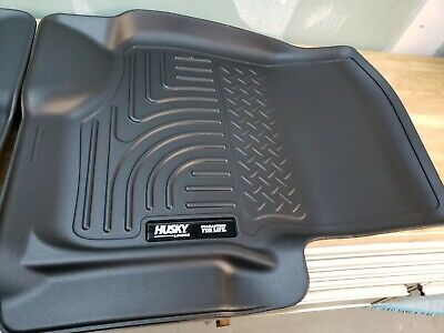 Husky WeatherBeater Front Floor Mats Black for Toyota Tacoma 2005-2015 SC//EC//CC