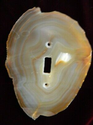 Light switch plates, electrical cover, Polished Rock assored rock lapis, agates