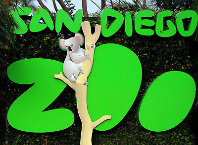 2 San Diego Zoo 1 Day Passes: No Blackout Dates Good Thru 2/28/21: Free U.S Ship
