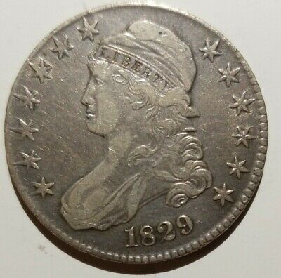 1829-P Capped Bust Half Dollar - Excellent Condition XF Dets Old Cleaning