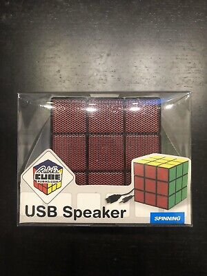 Spinninghat Retro Rubik's Cube USB Powered Portable AUX Speaker 5-watt