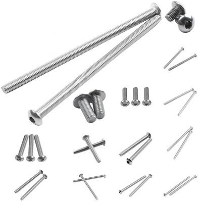 Stainless Steel Button Head Screw, Hex Socket Bolts Type:M4 / 4mm Bolt size G8H1