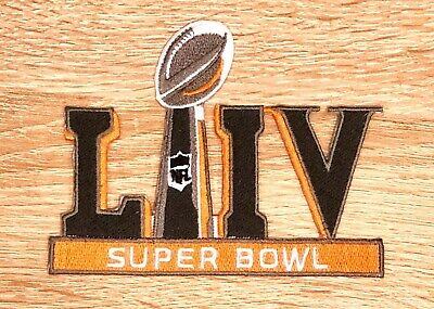 SUPER BOWL 54 LIV PATCH Orange & Dark Grey Season Chiefs Iron Sew On Jersey 5""