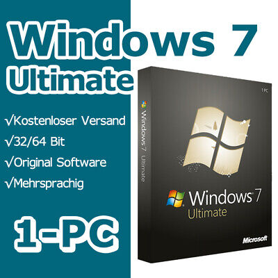 Windows 7 Ultimate SP1 Instant Multilanguage 32bit/64Bit Original License Key