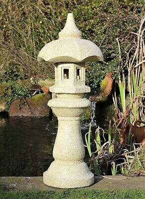 Garden Solar Ornament Chinese Pagoda, Japanese Lantern decor Buddha LARGE