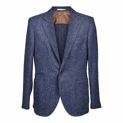 Brunello Cucinelli Men's Alpaca Blend Blue Blazer W/ Pockets NEW