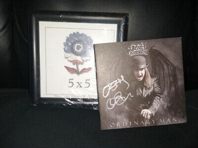 PRESALE Ozzy Osbourne Ordinary Man Signed CD Booklet w Frame + Deluxe Softpack
