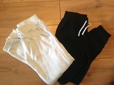Girls Primark black and grey joggers age 9-10 yesrs