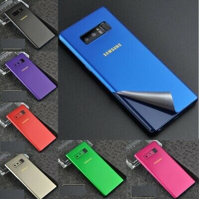 For Samsung Note 8 S9 Plus Back Foil Ice Film STICKER Red Border Side SCREEN