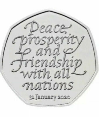 50p Brexit Coin NEW FROM SEALED PACKED