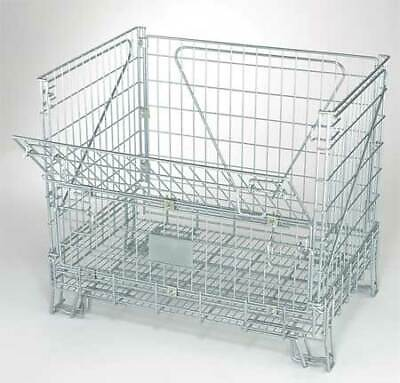 """NASHVILLE WIRE C324233W2 Collapsible Container, 32""""L, Silver"""