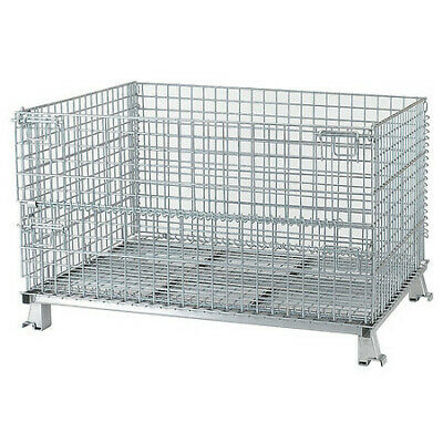 """NASHVILLE WIRE C404824S4 Collapsible Container, 48""""W, Silver"""