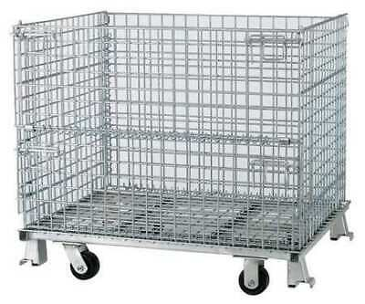 """NASHVILLE WIRE C324028S4C Collapsible Container, 32""""L, Silver"""