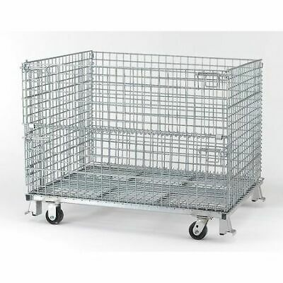 """NASHVILLE WIRE C404830S4C Collapsible Container, 48""""W, Silver"""