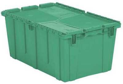 ORBIS FP243 GREEN Attached Lid Container, 2.3 cu. ft., Green