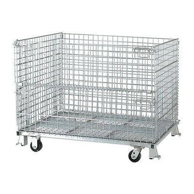 """NASHVILLE WIRE C404836S4C Collapsible Container, 48""""W, Silver"""
