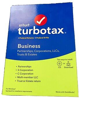 Intuit TurboTax Business 2019 Federal + Efile for Windows
