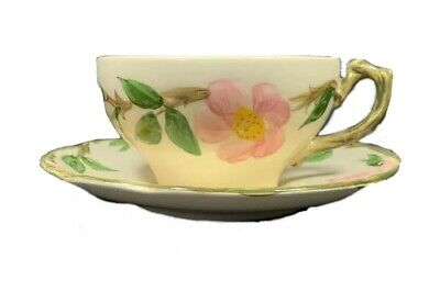 Franciscan Desert Rose Coffee Tea Cup(s) and Saucer(s), Made in U.S.A. 1940's