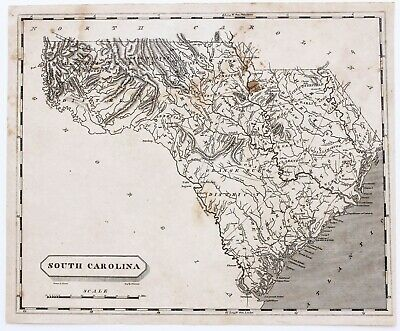1804 South Carolina Map  Charleston Hilton Head Columbia ARROWSMITH EXRARE