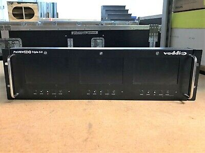 """Vaddio PreVIEW Triple 5.0"""" LCD Video Monitor Rack Mount"""