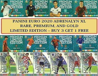 Panini UEFA EURO 2020 ADRENALYN XL - RARE PREMIUM, GOLD & LIMITED EDITION CARDS