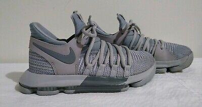 Nike Zoom KD 10 GS Youth Sz 4Y 5.5 Wmns Basketball Shoes Wolf Gray 918365-007