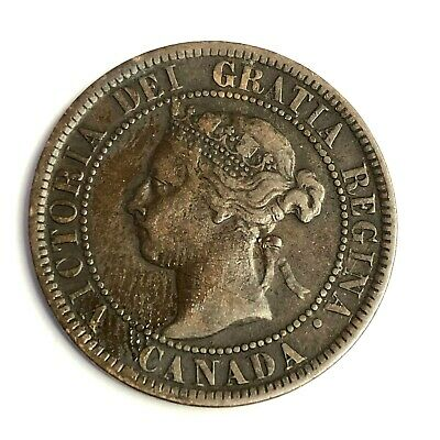 1897 CANADA ONE CENT, Victoria Large 1C, KM#7, Strong Grade